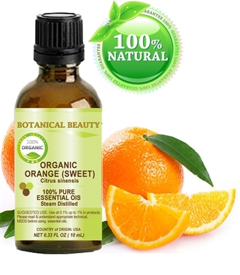 Orange (Sweet) Essential Oil Organic Botanical Beauty