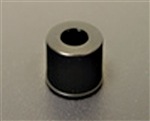 Cap Screw 8mm Open Top PP Black, 1000/pkg