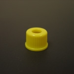Screw Cap, 8-425, YELLOW, Open Top, PP
