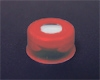 Snap Cap, 11mm, RED, w/Septa (PTFE)