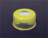 Snap Cap, 11mm, YELLOW, w/Septa (PTFE/RUBBER)