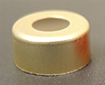 Crimp Cap, Magnetic, Gold, w/Septa PTFE/clear Sil, 20mm