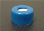 Screw Cap, 9mm, BLUE PP, w/Septa (PTFE/Silicone)
