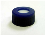 Cap Pak, Screw Blue Small Ribs w/ PTFE/Rubber Septa, 100/pkg
