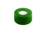 Cap Pak, Screw GREEN w/ Bonded PTFE/Sil Single Slit Septa, 100/pkg