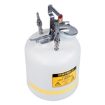 Justrite® 5-gallon PE can, SS / PTFE® disconnect