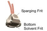 "Solvent Filter, PEEK, 2µm, for 1/8"" OD tubing"