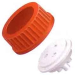 "Bottle Cap for GL-45, 1L Bottles, for 1/8"" OD tubing, RED"