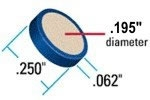"PEEK Frit, 0.5um, .062"" Diam, .062"" Thick, .250"" O.D., Blue Ring"