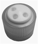 Vaplock BOTTLE CAP for Nalgene 38-430 bottles, 2-port, with (2) 1/4-28 female ports, PTFE insert with Polypropylene collar