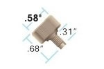 Fingertight PEEK Nuts, w/F-142 PEEK Ferrules, 10-32