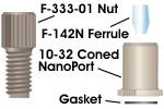 NanoPort Assy Headless 10-32 Cnd 1/16in