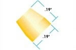 Flangeless Ferrule 1/8in Yellow