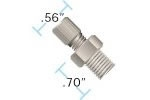 Adapt Assy PEEK 1/8 NPT - 5/16-24