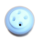 BOTTLE CAP for Wako 38-400 bottles,2-Ported 1/4-28, Polypropylene collar, PTFE insert and gasket