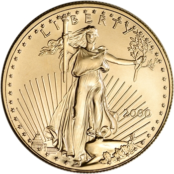 2000 American Gold Eagle 1 oz $50 - BU