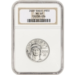 2000 American Platinum Eagle (1/2 oz) $50 - NGC MS69