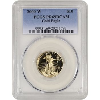 2000-W American Gold Eagle Proof 1/4 oz $10 - PCGS PR69 DCAM
