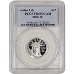 2000-W American Platinum Eagle Proof 1/4 oz $25 - PCGS PR69 DCAM