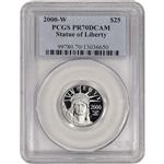 2000-W American Platinum Eagle Proof 1/4 oz $25 - PCGS PR70 DCAM