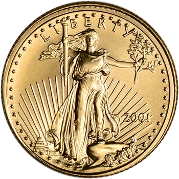 2001 American Gold Eagle 1/10 oz $5 - BU