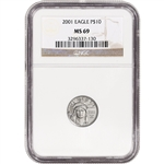 2001 American Platinum Eagle 1/10 oz $10 - NGC MS69