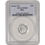 2001 American Platinum Eagle 1/10 oz $10 - PCGS MS69
