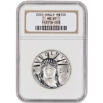 2001 American Platinum Eagle (1 oz) $100 - NGC MS69