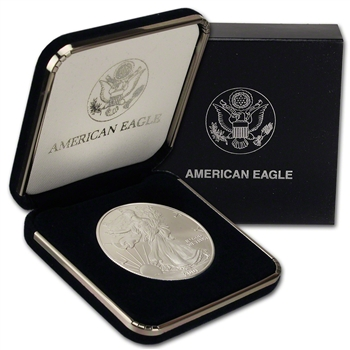 2001 American Silver Eagle in U.S. Mint Gift Box
