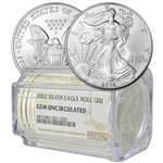 Roll of 20 - 2002 American Silver Eagle - NGC Gem Uncirculated