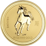 2002 Australia Gold Lunar Series I Year of the Horse 10 oz $1000 - BU