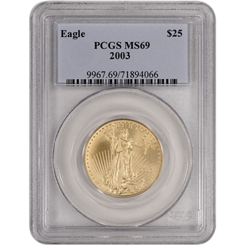 2003 American Gold Eagle (1/2 oz) $25 - PCGS MS69