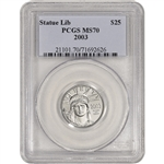 2003 American Platinum Eagle 1/4 oz $25 - PCGS MS70