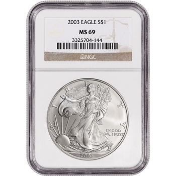 2003 American Silver Eagle - NGC MS69