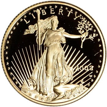 2003-W American Gold Eagle Proof 1/4 oz $10 - Coin in Capsule