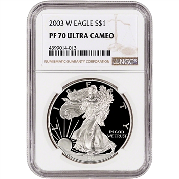 2003-W American Silver Eagle Proof - NGC PF70 UCAM