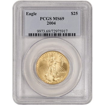 2004 American Gold Eagle (1/2 oz) $25 - PCGS MS69
