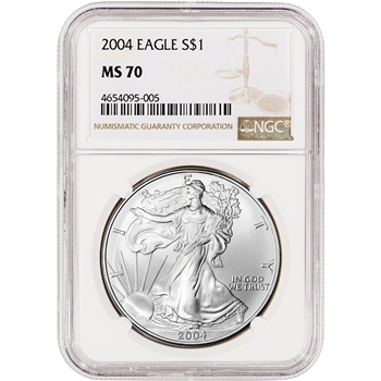 2004 American Silver Eagle - NGC MS70