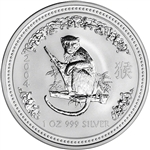 2004 Australia Silver Lunar Series I Year of the Monkey 1 oz $1 - BU