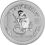 2004 Australia Silver Lunar Series I Year of the Monkey 5 oz $8 - BU