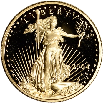 2004 W American Gold Eagle Proof 1/4 oz $10 - Coin in Capsule
