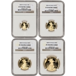2004-W American Gold Eagle Proof 4-pc Year Set - NGC PF70 UCAM