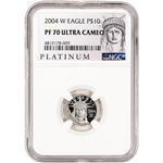 2004-W American Platinum Eagle Proof 1/10 oz $10 -  NGC PF70 UCAM ALS Label