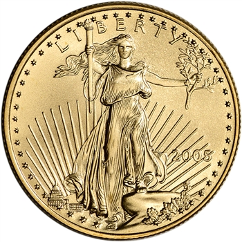 2005 American Gold Eagle 1/2 oz $25 - BU