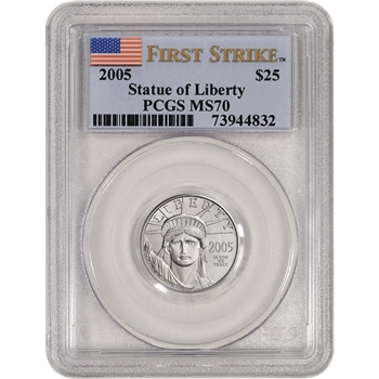 2005 American Platinum Eagle (1/4 oz) $25 - PCGS MS70 - First Strike