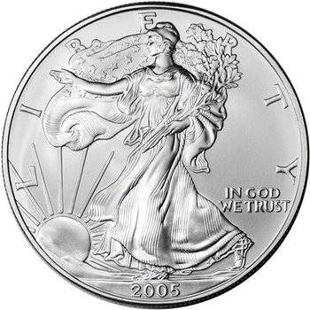 2005 American Silver Eagle - Brilliant Uncirculated