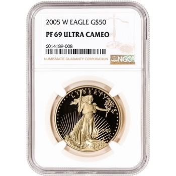 2005-W American Gold Eagle Proof 1 oz $50 - NGC PF69 UCAM