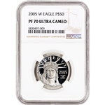 2005 W American Platinum Eagle Proof 1/2 oz $50 - NGC PF70 UCAM