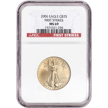 2006 American Gold Eagle 1/2 oz $25 - NGC MS69 First Strikes