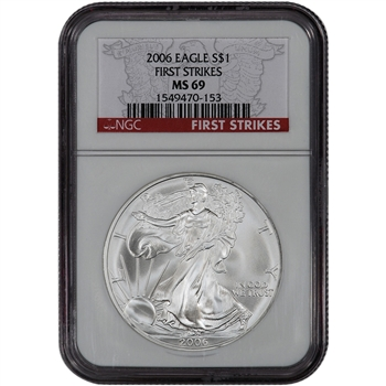2006 American Silver Eagle - NGC MS69 - First Strikes